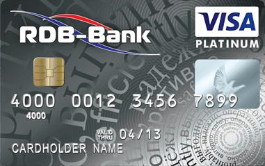 Visa Platinum в долларах и евро