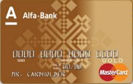 Премиальная MasterCard Gold в BYN
